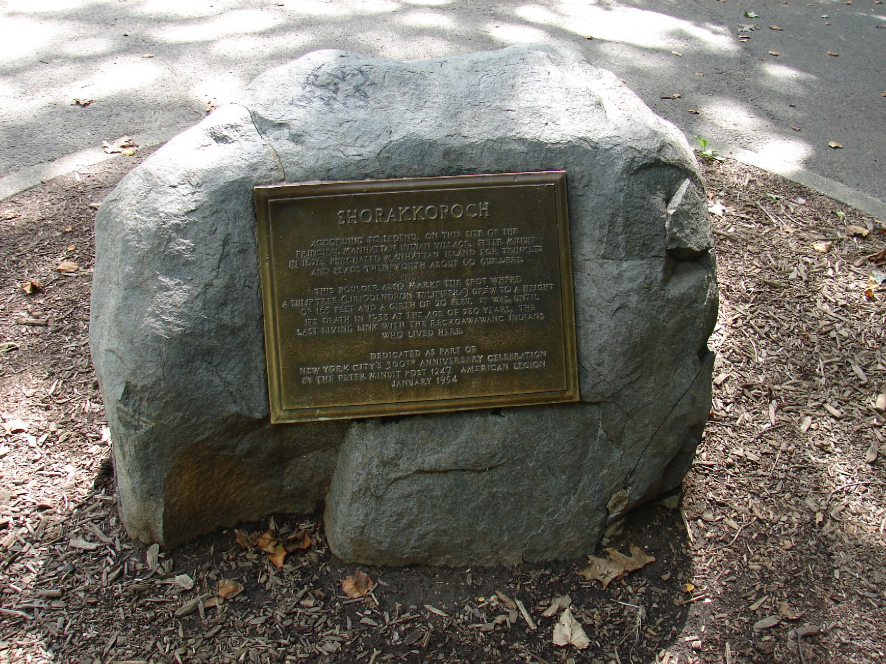 Inwood - Shorakkopoch Rock
